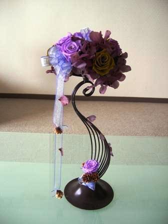 プリザーブトフラワー紫
