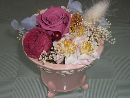 ピンクの陶器3