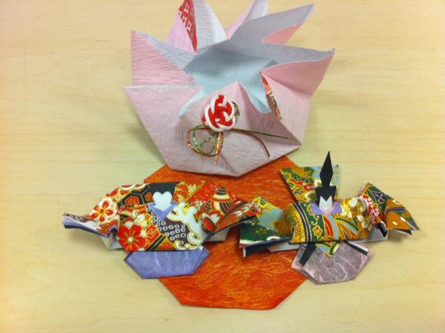 折り紙 折り紙 雛人形 : 写真[1]折り紙雛人形