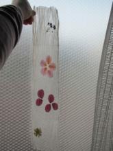 シルクの花しおり (3)