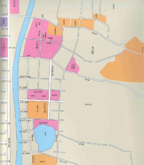 六波羅・法住寺周辺地図