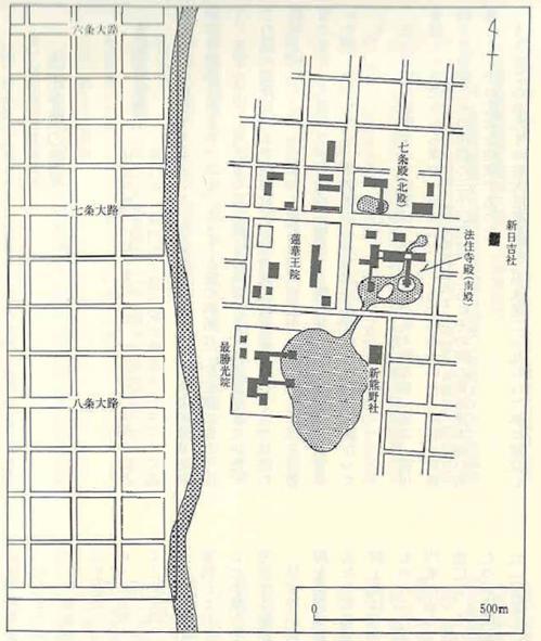 法住寺殿伽藍図