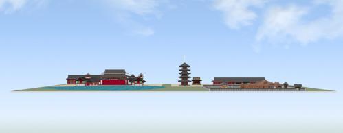 東から見た法住寺殿