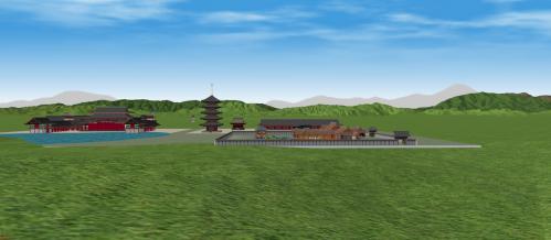 東山から見た法住寺殿
