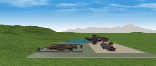 北から見た法住寺殿