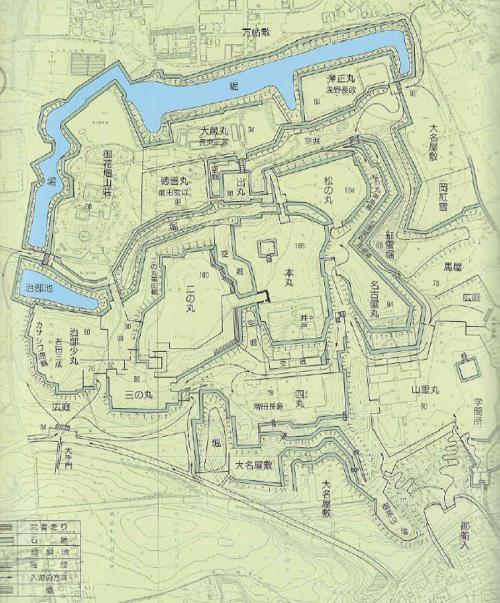伏見城縄張り図