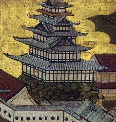 洛中洛外図屏風』堺市博物館本伏見城