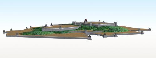 南から望む伏見城