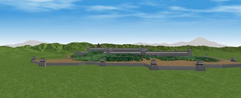 西方から見る伏見城