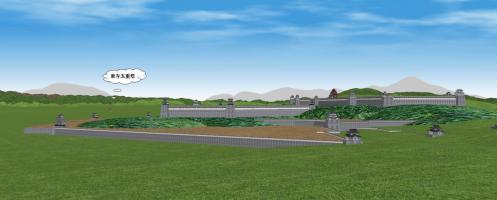 南方から見た伏見城