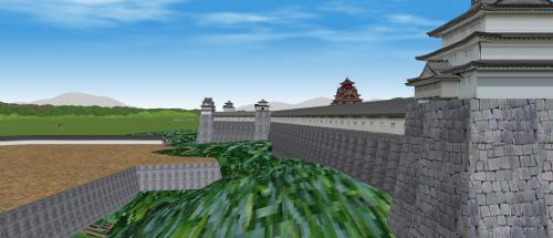 伏見城本丸を望む