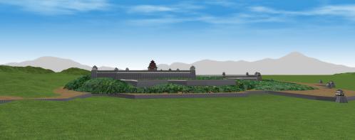 北方から見る伏見城