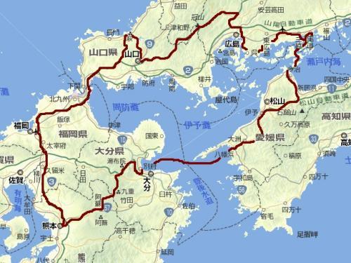 西日本(拡大)旅程図