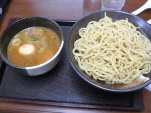08072317麺屋にし田・味玉つけ麺 大盛