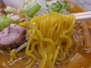 08080319純連 東京店・みそラーメン 麺アップ