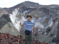 8/2 富士山火口を背にして 14:35