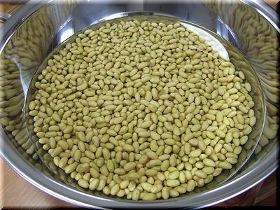 大豆が膨らんだよん
