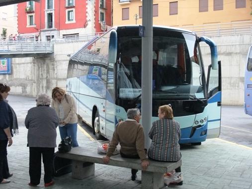 マドリッド行きバス