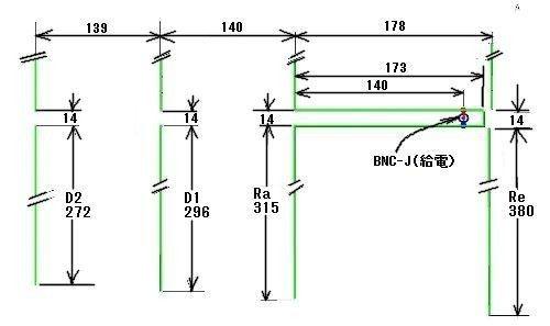 2 寸法高調波アンテナ