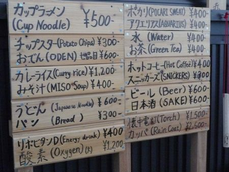 食べ物の値段