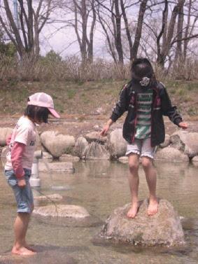 かじかの里公園水遊び