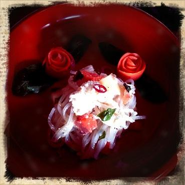 スモークサーモンのバラ
