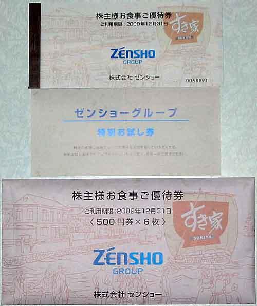 ゼンショー株主優待2