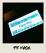 piano and vox