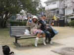 錦帯橋で食うKAZAYA(