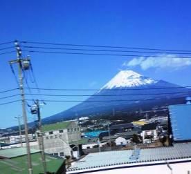 クッキリ見えた富士山!