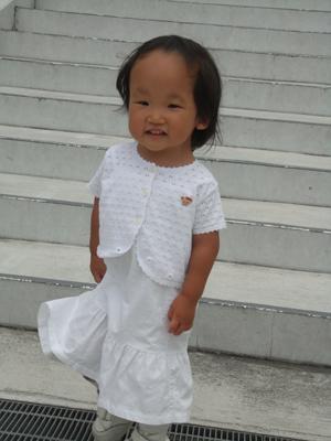白いドレス1
