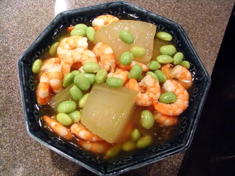 海老と冬瓜の煮物