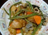 鶏と野菜の黒酢炒め