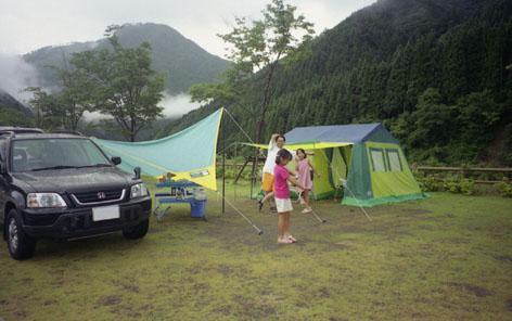 CR-Vとキャンプ