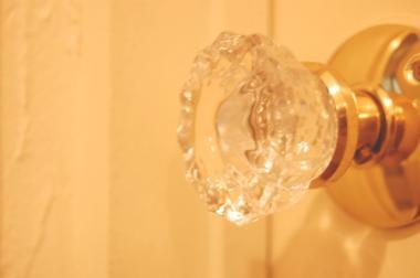 洗面所のドアノブ