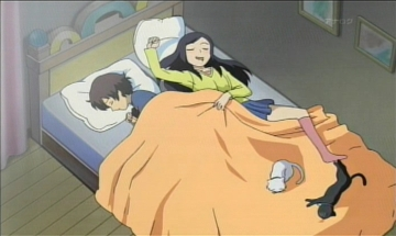 ベッドで二人