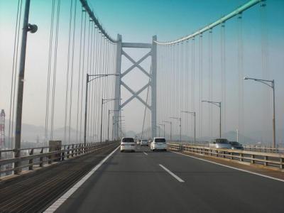 瀬戸大橋も車多い…