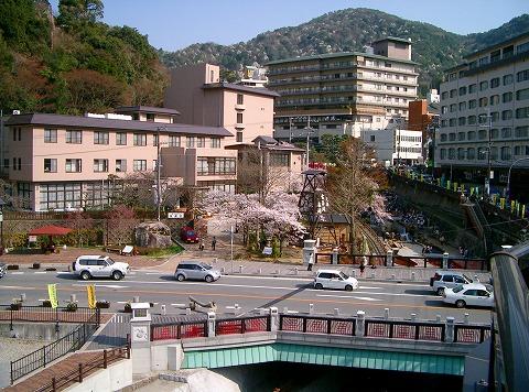 現在の有馬温泉太閤橋