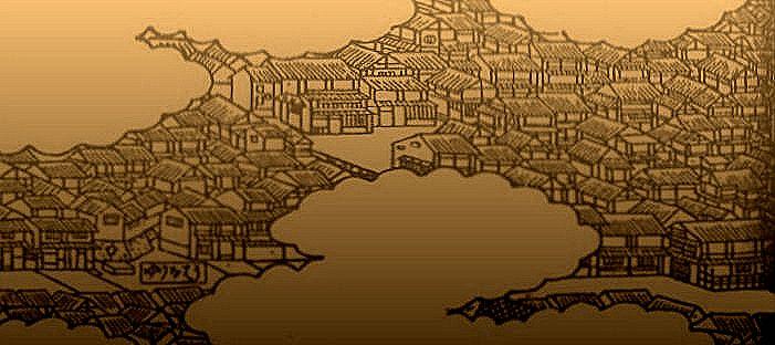 摂津名所絵図『有馬温泉』の一部