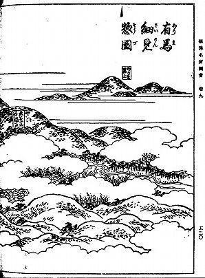 摂津名所図会の有馬富士
