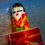 伝統工芸品有馬人形筆