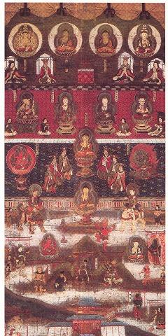 湯泉神社の重要文化財「熊野曼荼羅図」