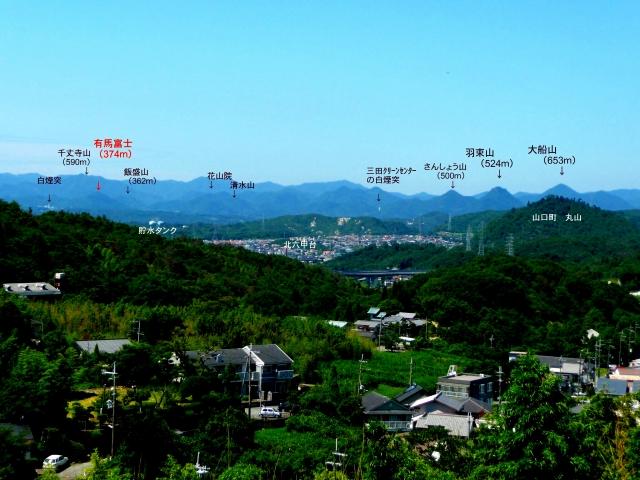 有馬富士とその他の山々