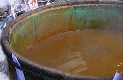 塩分と鉄分を含む有馬の湯