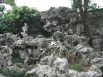 太湖石で出来た山