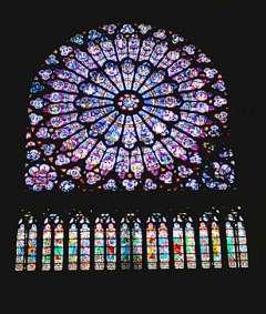 バラ窓です