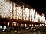 オスマン通りから見たクリスマスイルミネーション