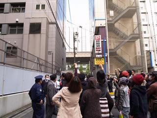 11/2 渋谷署前で激励行動をしましたが…