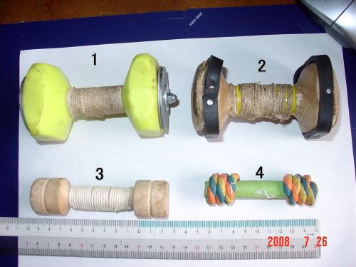 200726・4種のダンベル