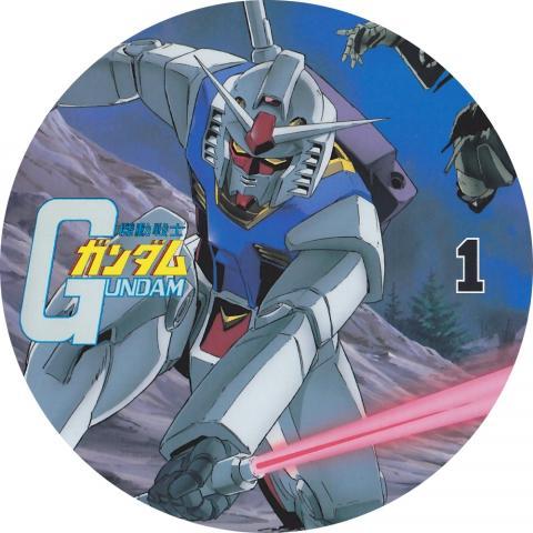 (自作DVDラベル) 機動戦士ガンダム (第1巻)